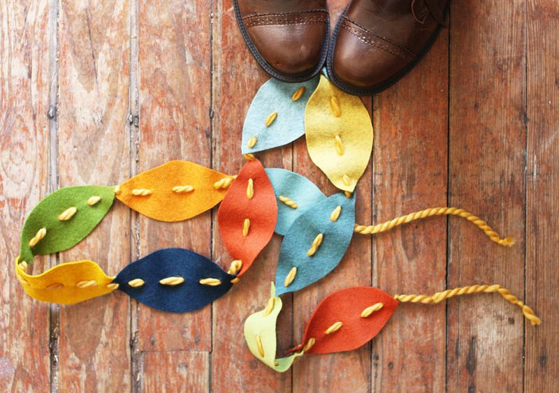fall felt garland kids activities diy