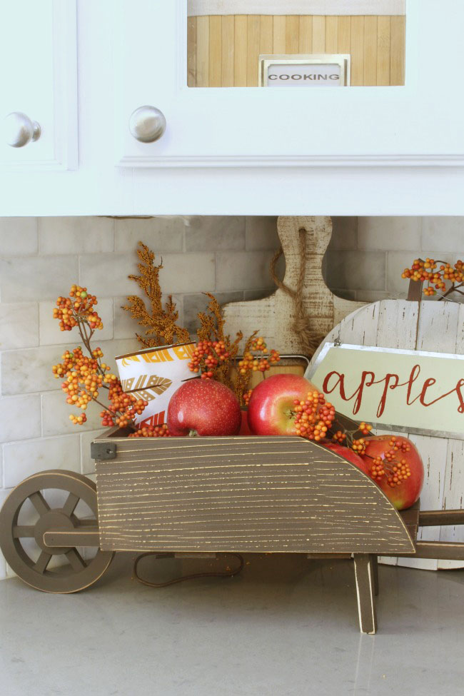 fall kitchen fruit basket fall Kitchen decor