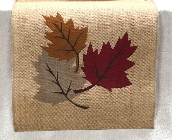 fall leaf table runner fall kitchen decor