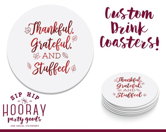 Friendsgiving Coasters Cheap Decor