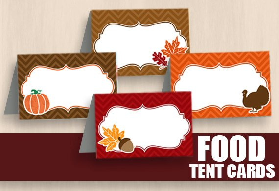 Friendsgiving Food Labels Cheap Decor