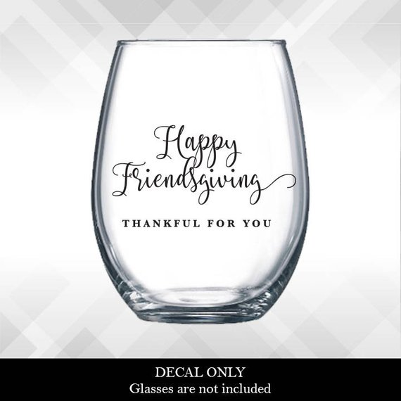 Friendsgiving Glass Decal Cheap Decor