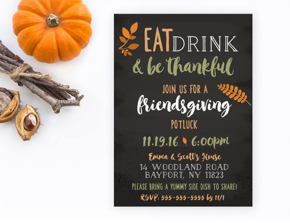 Friendsgiving Invitations Cheap Decor
