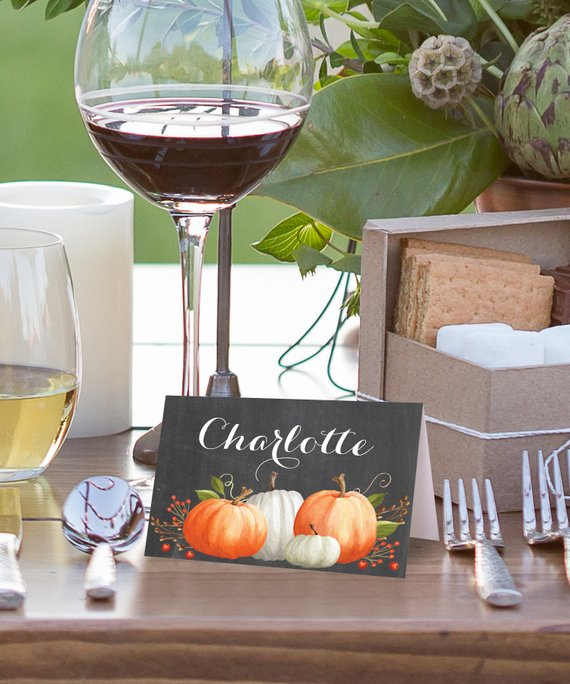 Friendsgiving Place Cards Cheap Decor