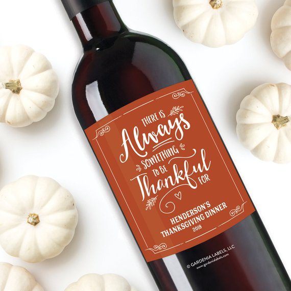 Friendsgiving Wine Labels Cheap Decor