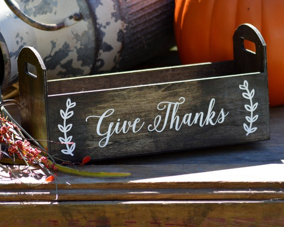 give thanks centerpiece box cheap thanksgiving decor ideas