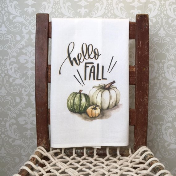 Hello Fall Kitchen Decor