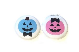 boy or girl jackolantern pins fall baby gender reveal party ideas cheap