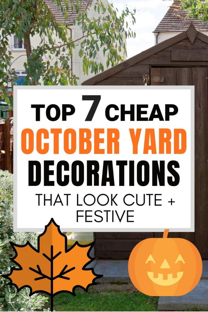 7 Halloween Yard Decoration Ideas that are Cute + Cheap