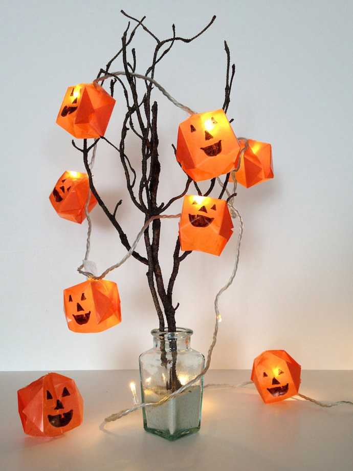 origami halloween lights diy decorations