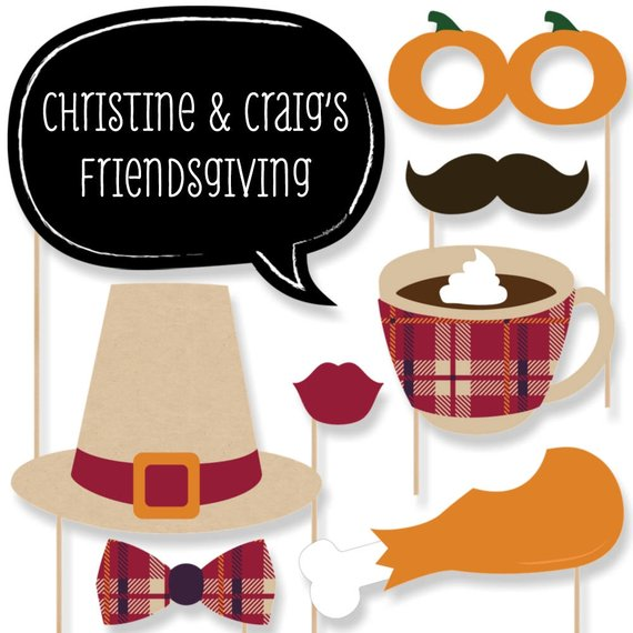 Friendsgiving Photo Booth Props Cheap Decor