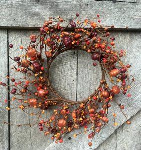 Pumpkin and Berry Front Door Wreath Cheap