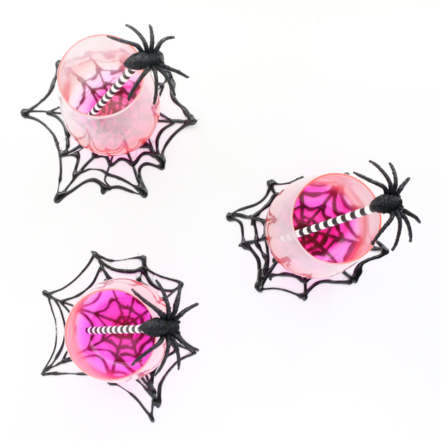 spider web coasters diy halloween decorations