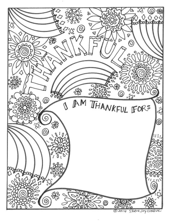 Friendsgiving Coloring Ideas