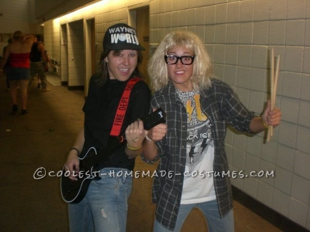 wayne garth wayne's world diy halloween couples costumes