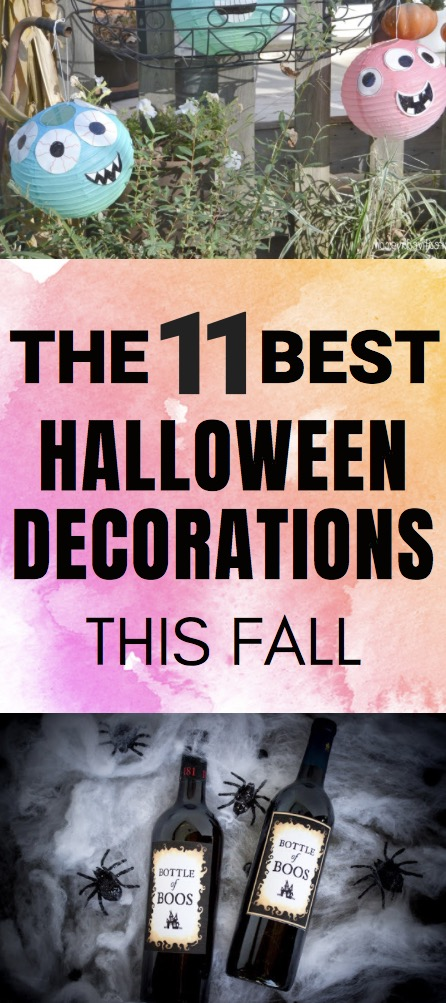 These are the Best Halloween Decorations you can DIY this Fall with a few Etsy Halloween Decorations thrown in |. DIY Halloween Decorations #halloweendecorations #halloweendecor #halloweenideas