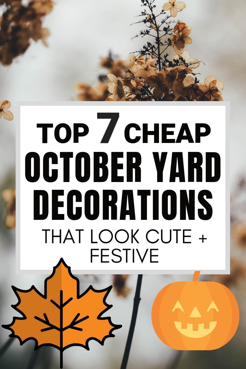 These cheap October Yard Decorations will make your house so cute and festive but won't break the bank | #falldecor #fallhome #octoberdecor
