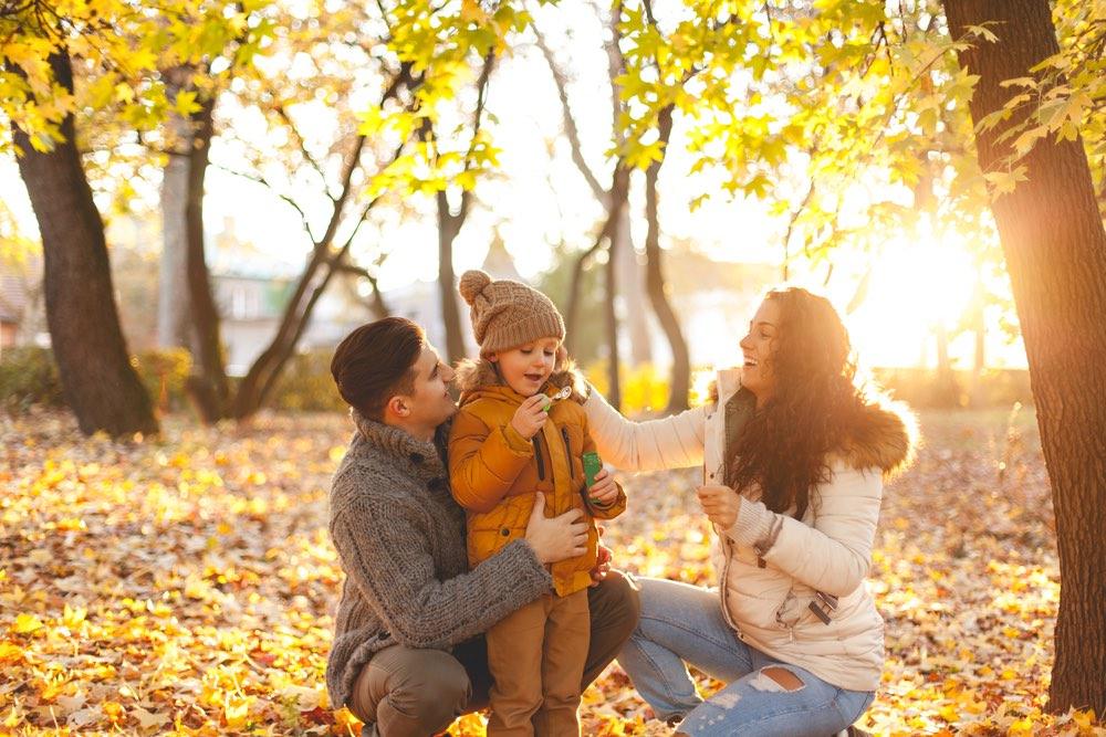 Fall family photo DIY idea