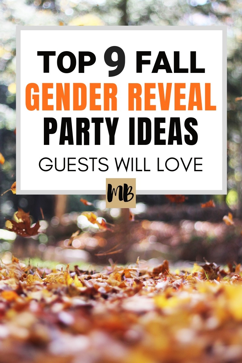 The 9 Best Fall Gender Reveal Party Ideas | October Gender Reveal Party | November Gender Reveal Party