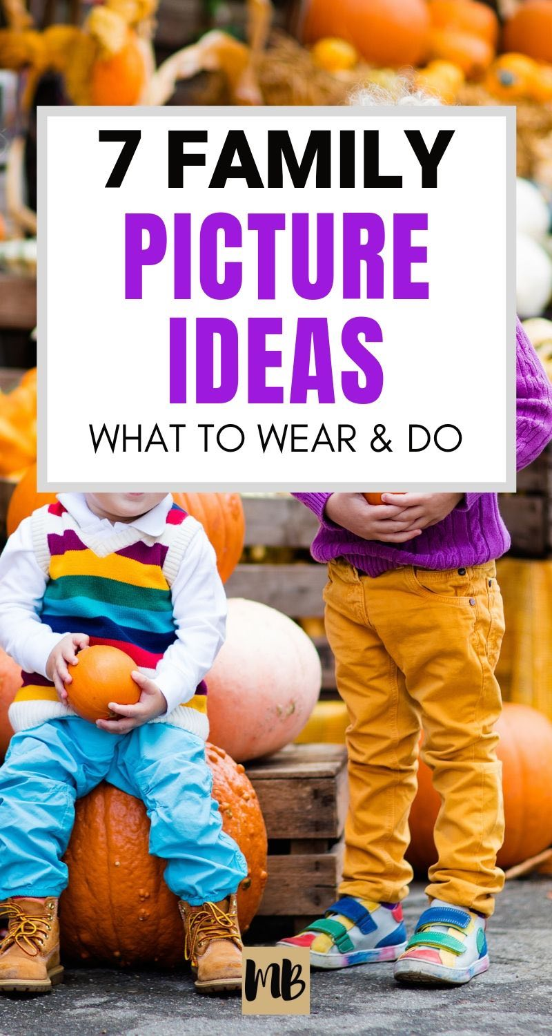 Family picture ideas | clothes to wear | ideas for family photoshoot settings
