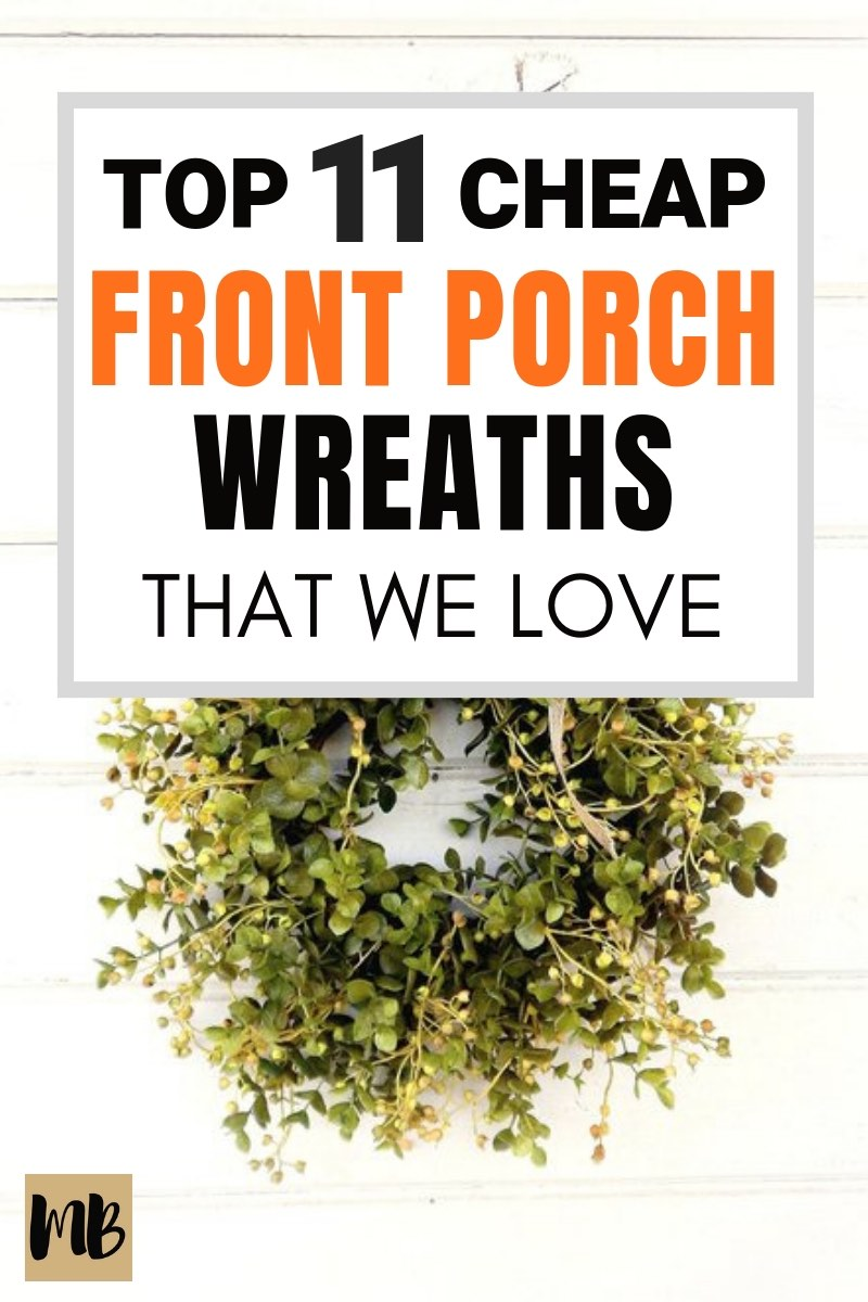 These are the 11 front porch wreaths we're loving right now | Fall Front Porch Ideas #falldecor #frontporch #fall