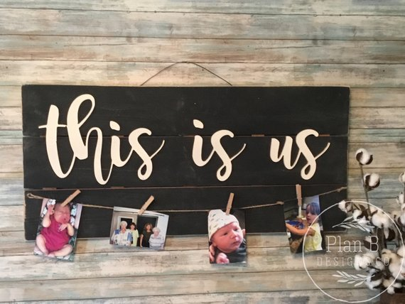 this is us sign for family photos