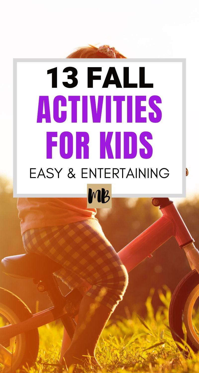 Easy to clean up fall activities for kids (toddlers, preschoolers, and school age)