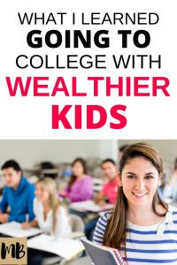 Going to College with Wealthier Kids