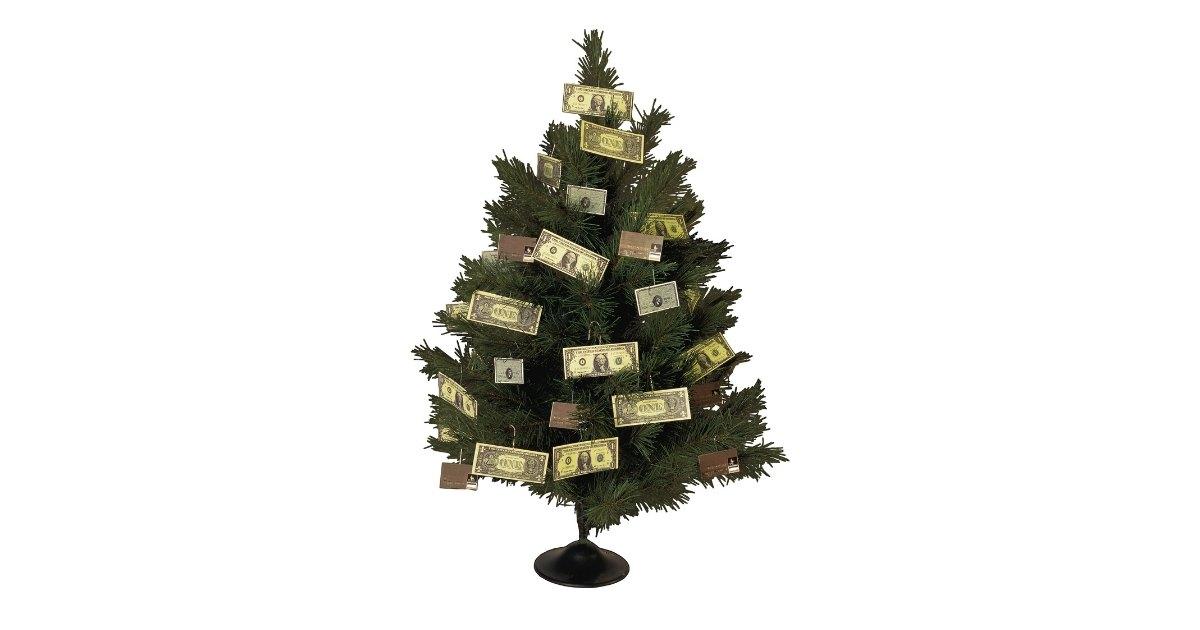 Money origami Christmas tree 🎄 Making a Dollar Christmas tree - YouTube | 630x1200