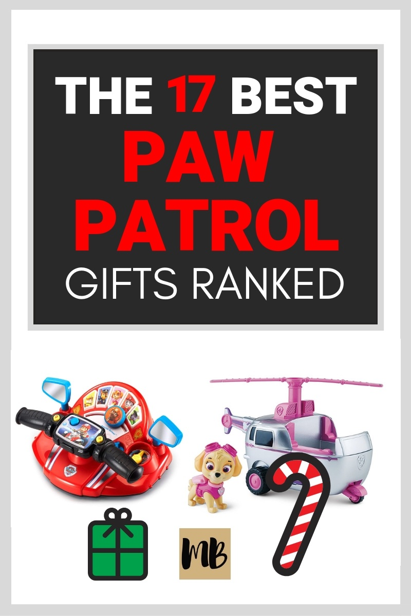I found Paw Patrol Gifts for Christmas and ranked them. All of these Paw Patrol gifts are available on Amazon. #pawpatrol