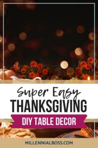 thanksgiving DIY table decor