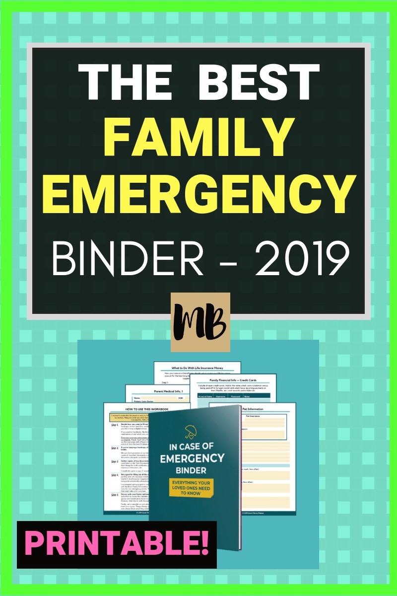 90 pages of printable worksheets to help families prepare in the case of emergency - includes instructions for paying bills, kids medications, pets, etc.