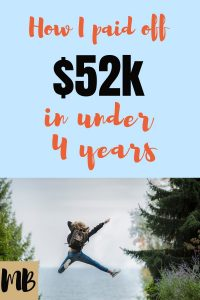 How I Paid Off $52k in Under 4 Years