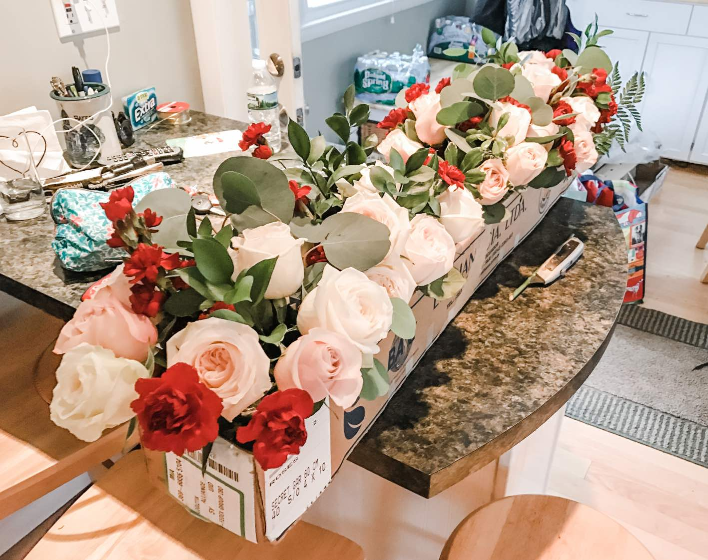 transport DIY flowers to venue