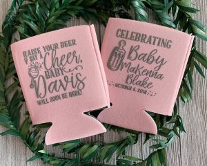 coozies summer baby shower coed ideas