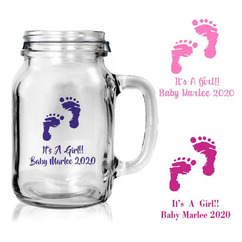Baby Shower Mason Jar Mug Millennial Boss