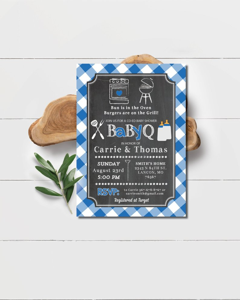 baby barbecue bbq party invitation summer coed baby shower ideas