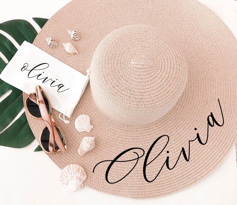 beach hat beach bag essentials