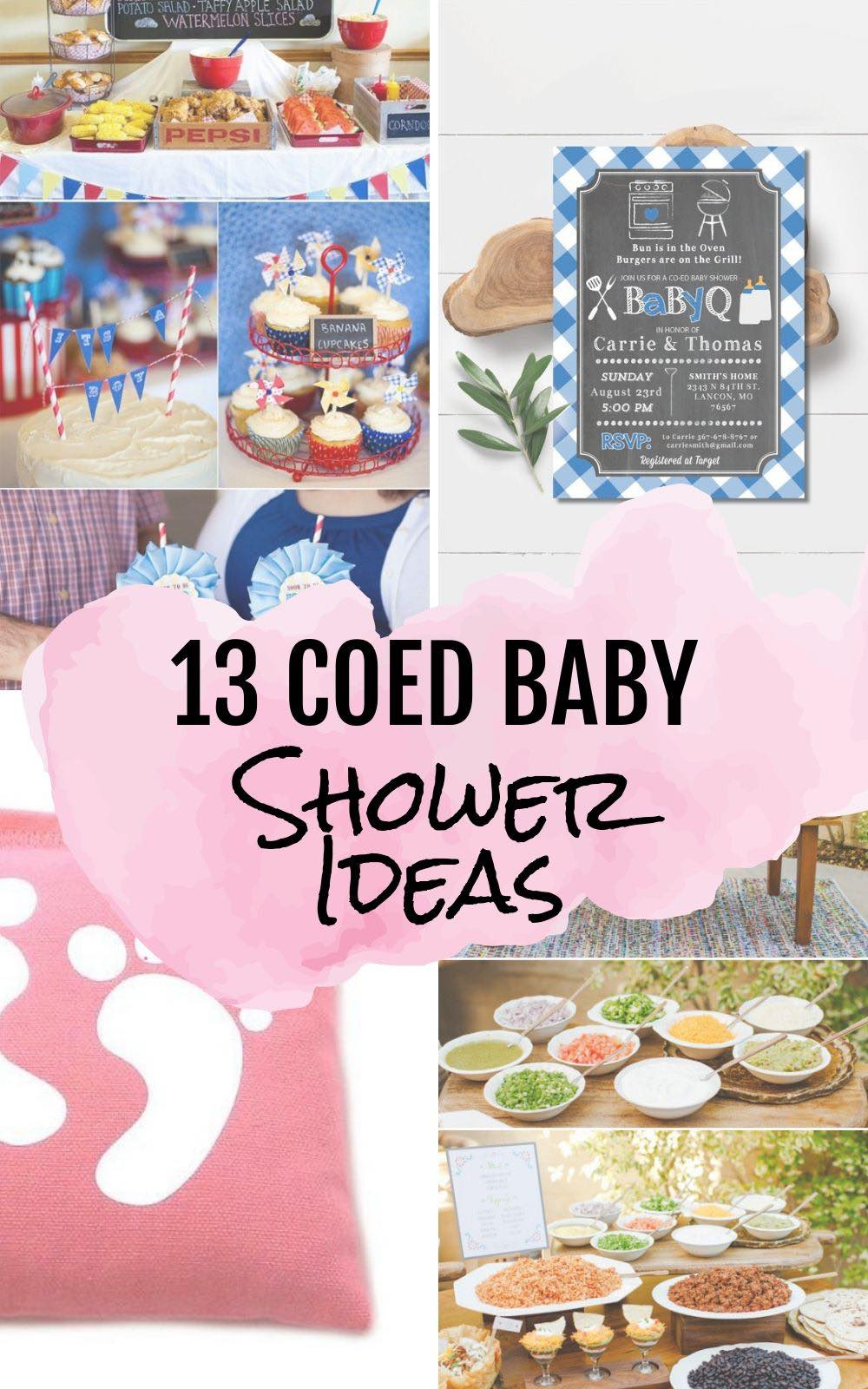 13 Summer Co ed Baby Shower ideas #babyshower #baby