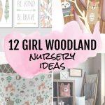 12 Baby Girl Woodland Nursery Ideas #nursery #babygirl #baby #pink