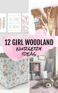 12 Baby Girl Woodland Nursery Ideas #nursery #babygirl #baby #pink