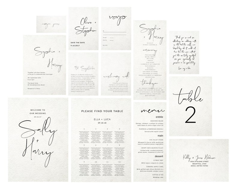 diy wedding invitations minimalist