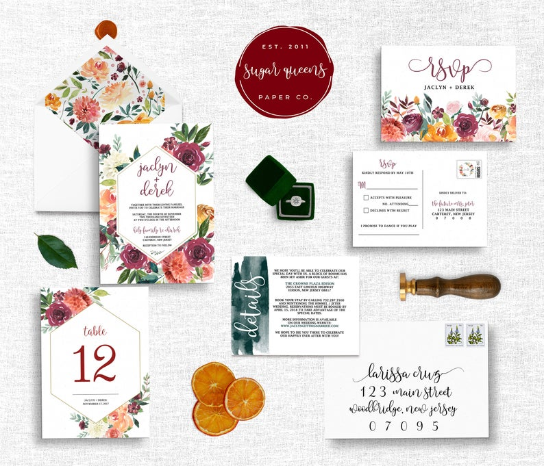 diy wedding invitations watercolors