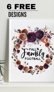 Free Fall Family Printable for Wall Decorations