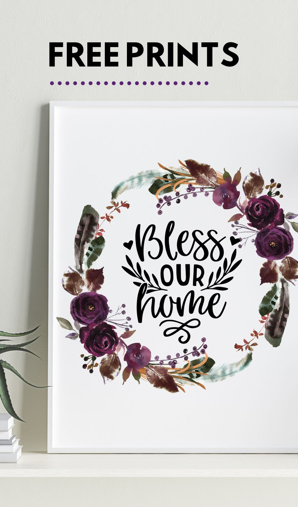 Free bless our home printable and 6 others #Fall #hellofall