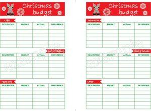 Save for Christmas with this Savings Plan Christmas Budget Worksheet