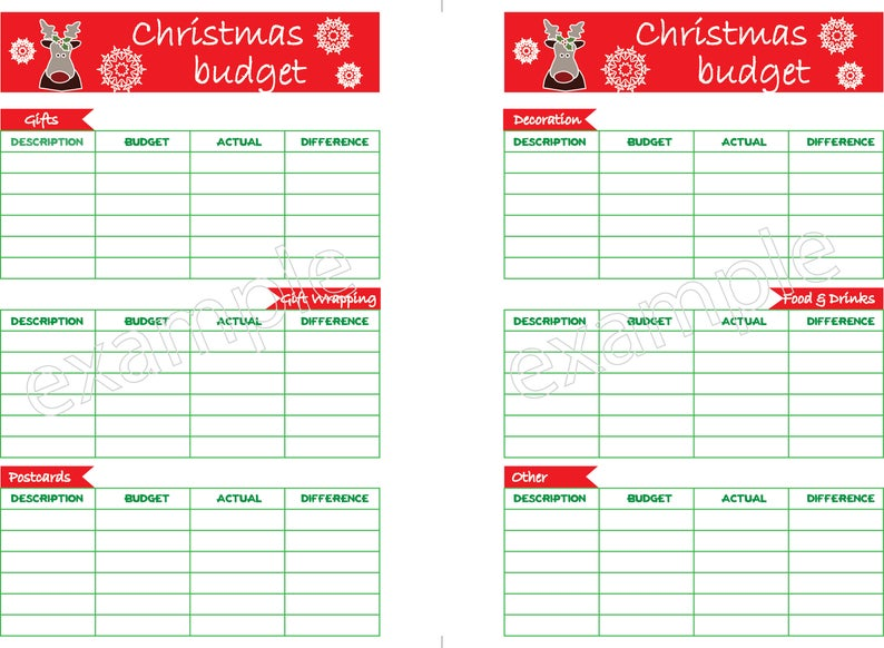 Save for Christmas with this Savings Plan Christmas Budget Worksheet