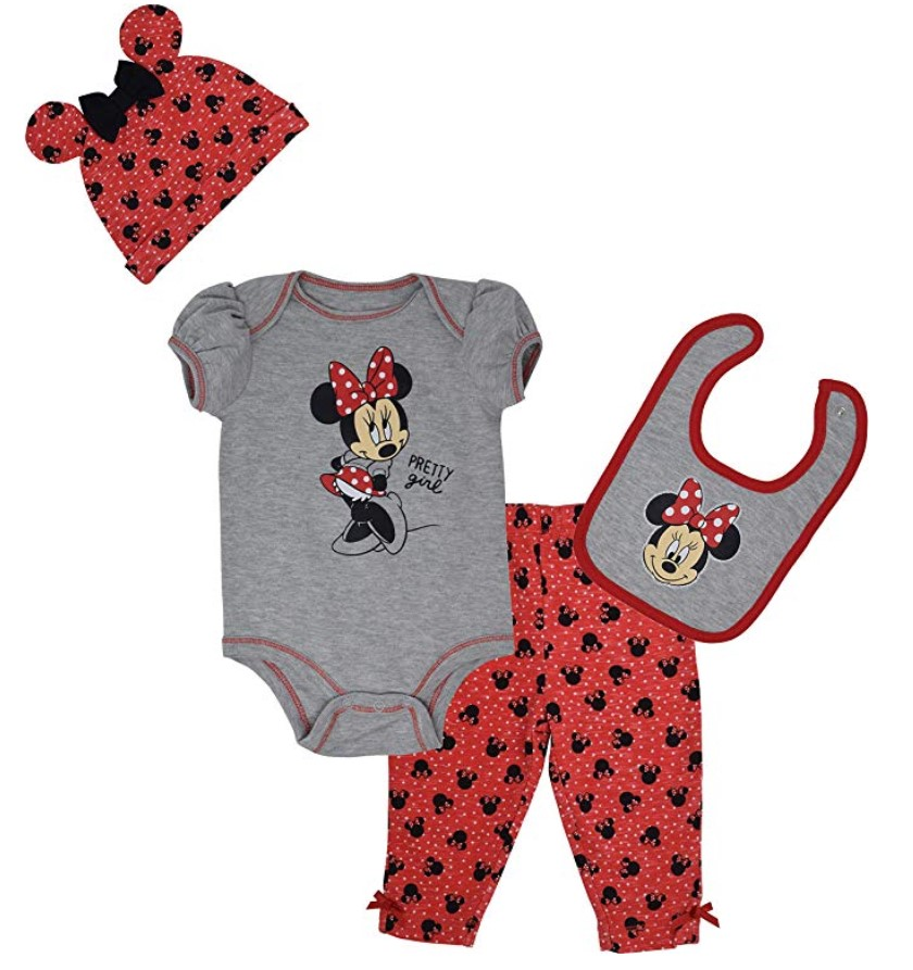 the cutest disney baby gift ideas for him or her boy or girl minnie mouse bib pants ears