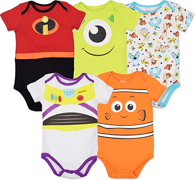 the cutest disney baby gift ideas for him or her boy or girl pixar onesies nemo mike incredibles buzz lightyear