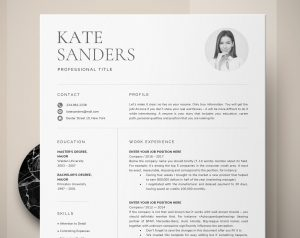 Resume with photo example job hunting 2020 resume trends